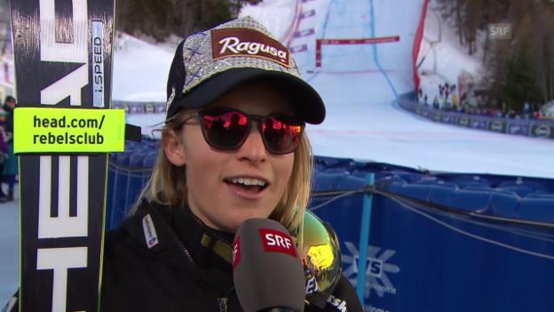 Video «Lara Gut: «Rutschig, ganz einfach rutschig»» abspielen