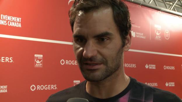 Laschar ir video «Roger Federer davart ses problems dal dies suenter il final da Montreal»