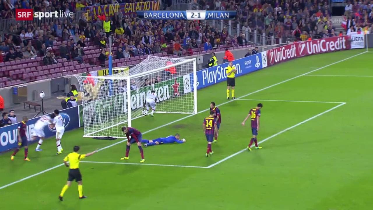 Fussball: Barcelona - Milan
