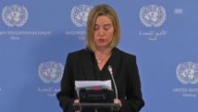 Video «EU-Aussenbeauftragte Mogherini zum Ende der Sanktionen» abspielen