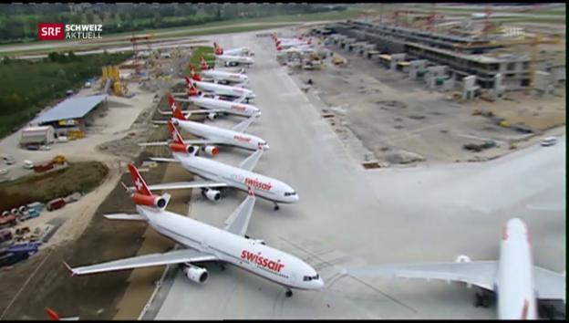 Video «Die Flugzeuge bleiben am Boden» abspielen