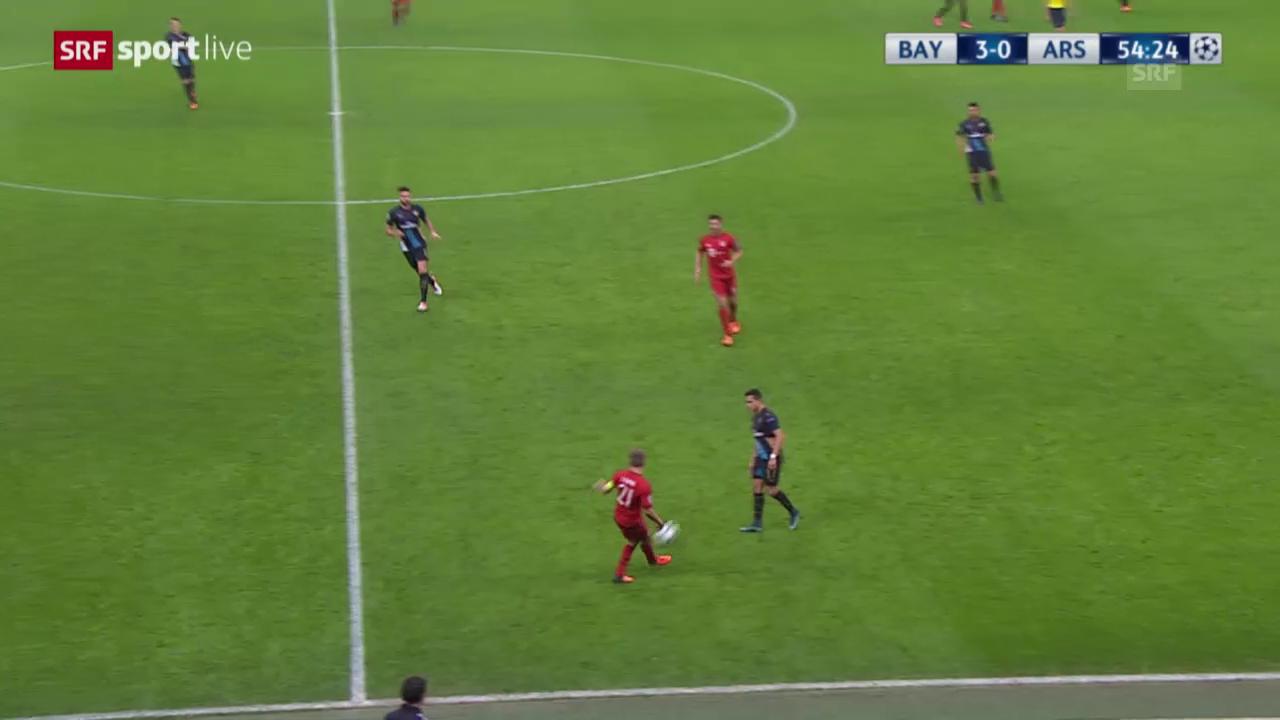 Fussball: Champions League, Bayern - Arsenal, 4:0 durch Robben