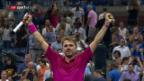 Video «Wawrinka schlägt Nishikroi und steht im US-Open-Final» abspielen