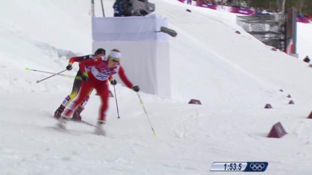 Video «Langlauf: Sprint Frauen, Viertelfinal (Sotschi direkt, 11.02.2014)» abspielen