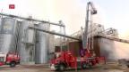 Video «VS: Brand in Holzverwertung-Anlage» abspielen