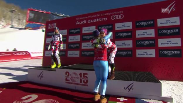 Video «Ski: WM, Zusammenfassung Super-Kombi Frauen» abspielen