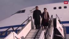 Link öffnet eine Lightbox. Video Xi Jinping in Zürich gelandet abspielen