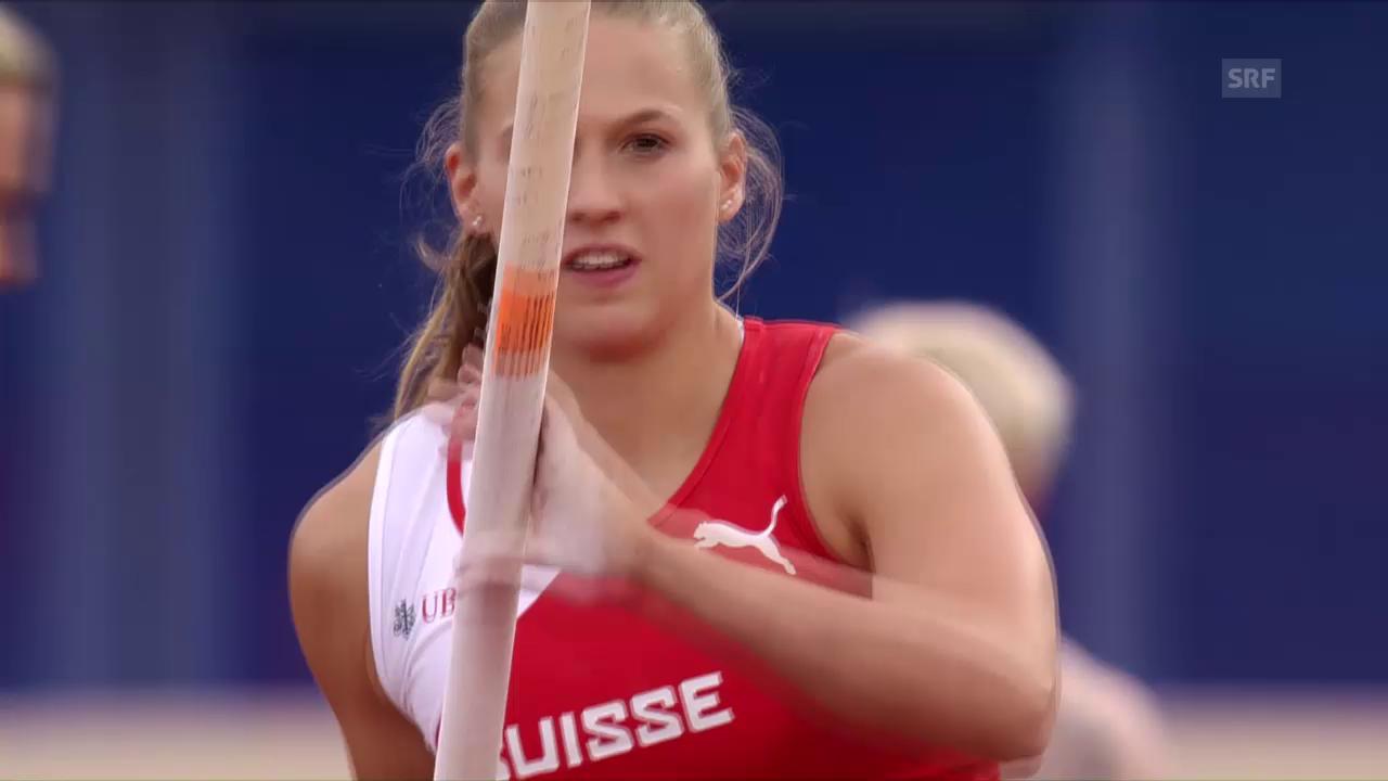Angelica Moser geglückter 4,45-m-Sprung