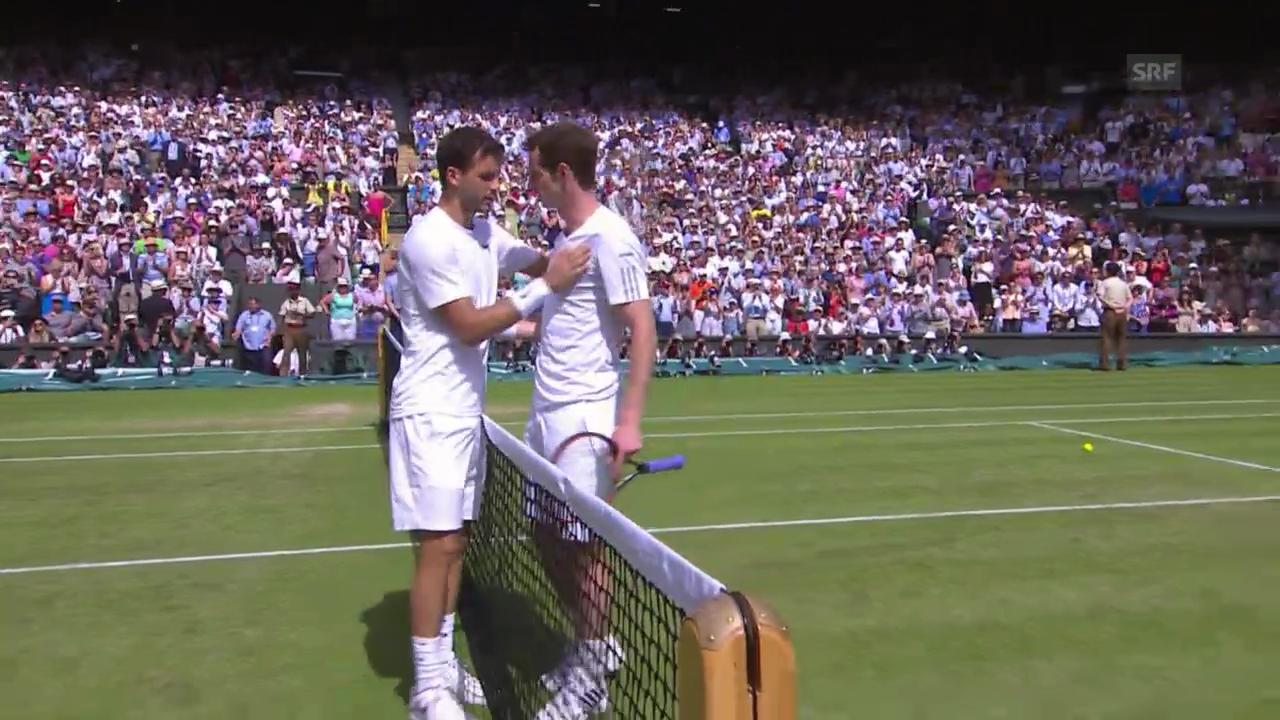 Tennis: Wimbledon, Murray - Dimitrov, Satz- und Matchbälle