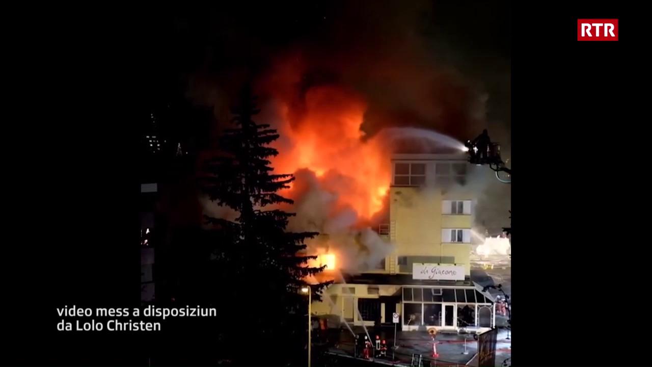 L'incendi al Posthotel Arosa (mad: Lolo Christen)
