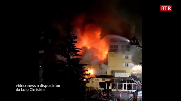 Laschar ir video «L'incendi al Posthotel Arosa (mad: Lolo Christen)»