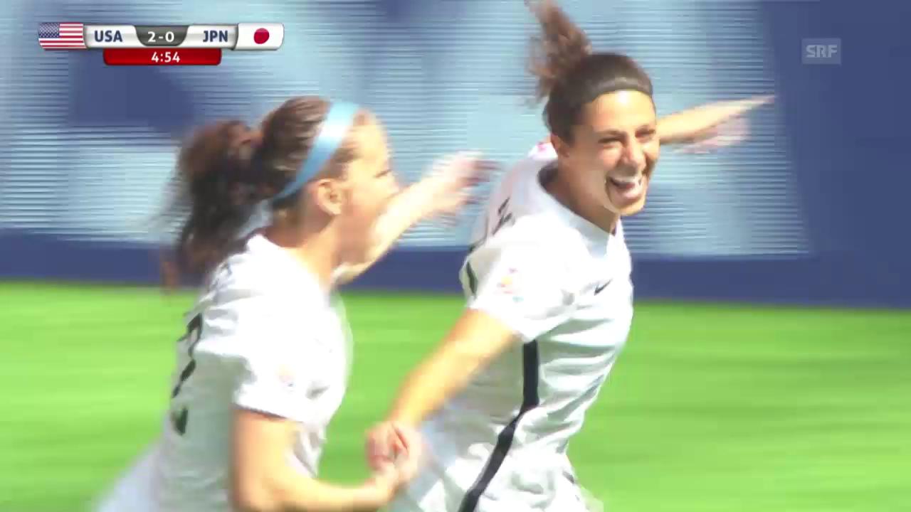 Fussball - Frauen-WM: Die Tore des Finals (06.07.2015)