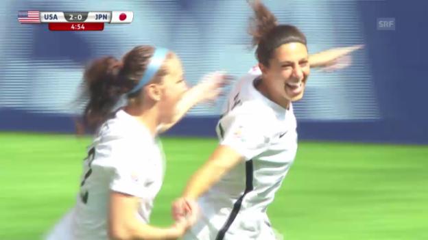 Video «Fussball - Frauen-WM: Die Tore des Finals (06.07.2015)» abspielen