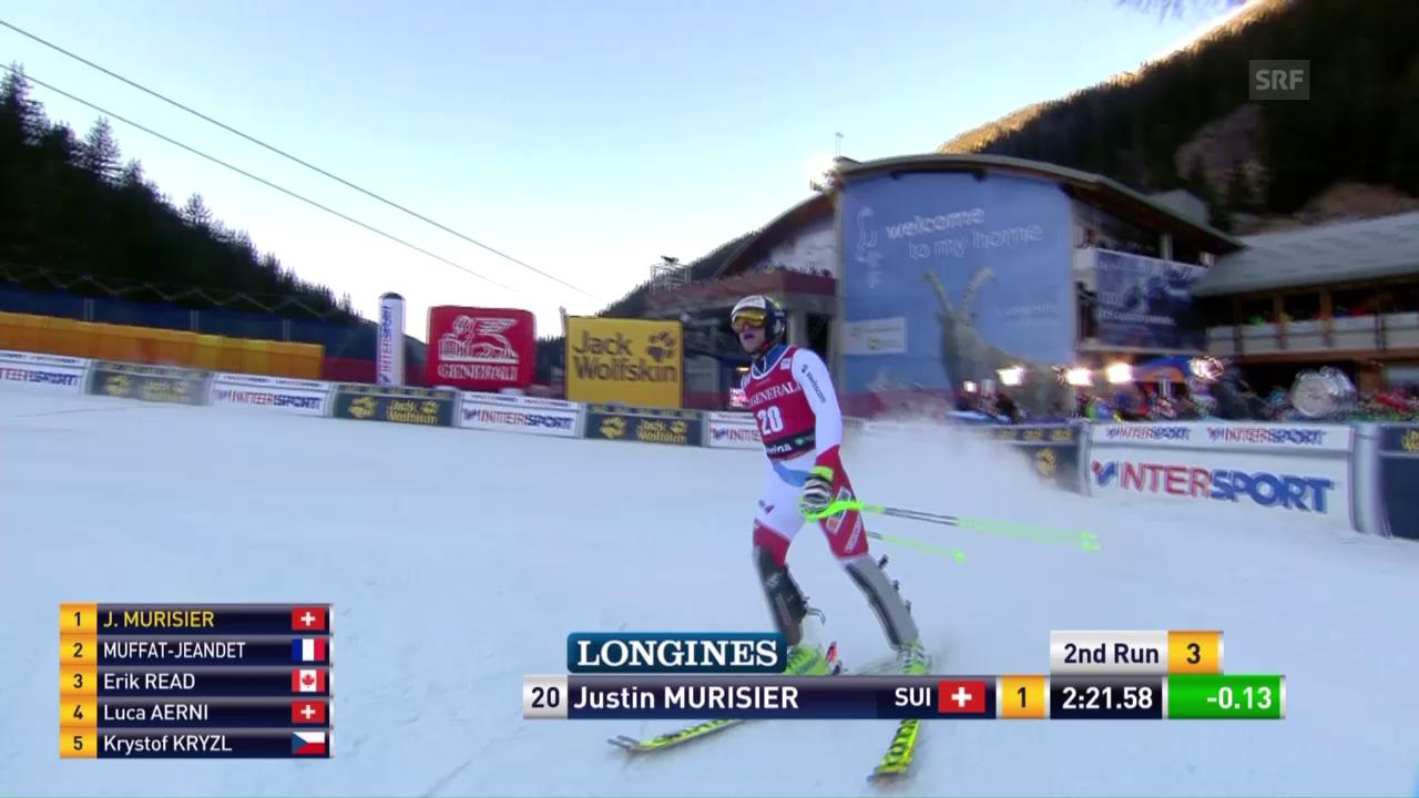 Der Slalomlauf von Justin Murisier