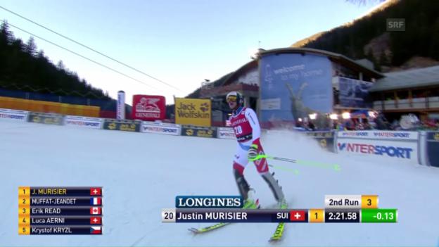 Video «Der Slalomlauf von Justin Murisier» abspielen