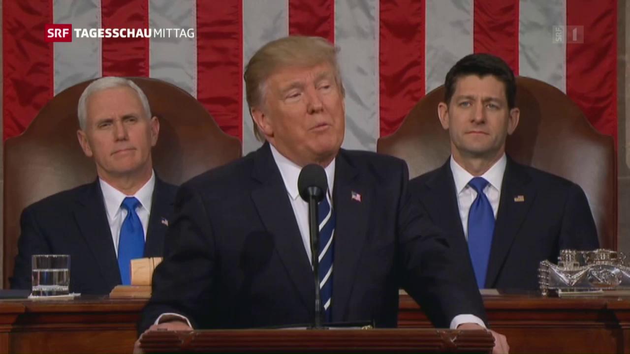 Donald Trump vor dem Kongress