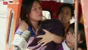 Video «Auf den Philippinen kommt Versorgung nur schleppend voran» abspielen