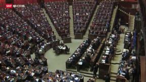 Video «Enrico Letta hat das Vertrauen des Parlaments» abspielen