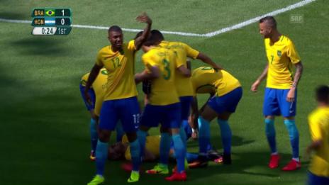 Video «Blitzstart: Neymar kam, sah und traf nach 14 Sekunden» abspielen