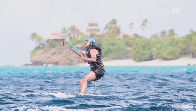 Video «Obama und Richard Branson beim Kitesurfen» abspielen