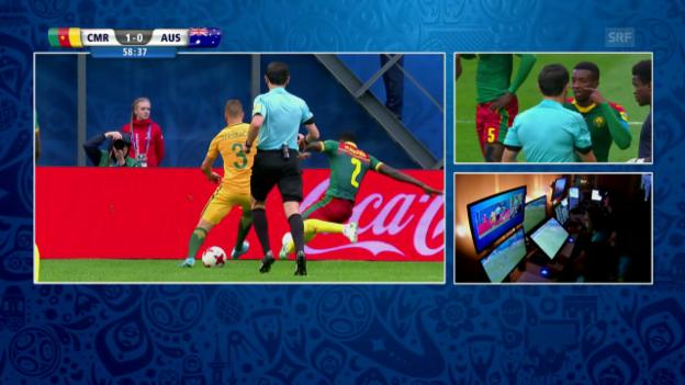 Video «Dank Videoschiedsrichter: Australien erhält einen Penalty» abspielen