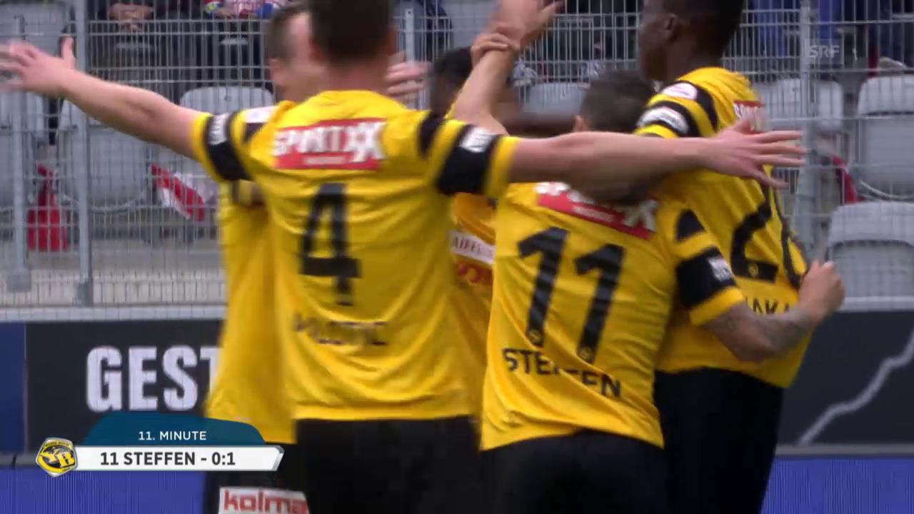 Fussball: Super League 2015/16, 10. Runde, Thun - Young Boys