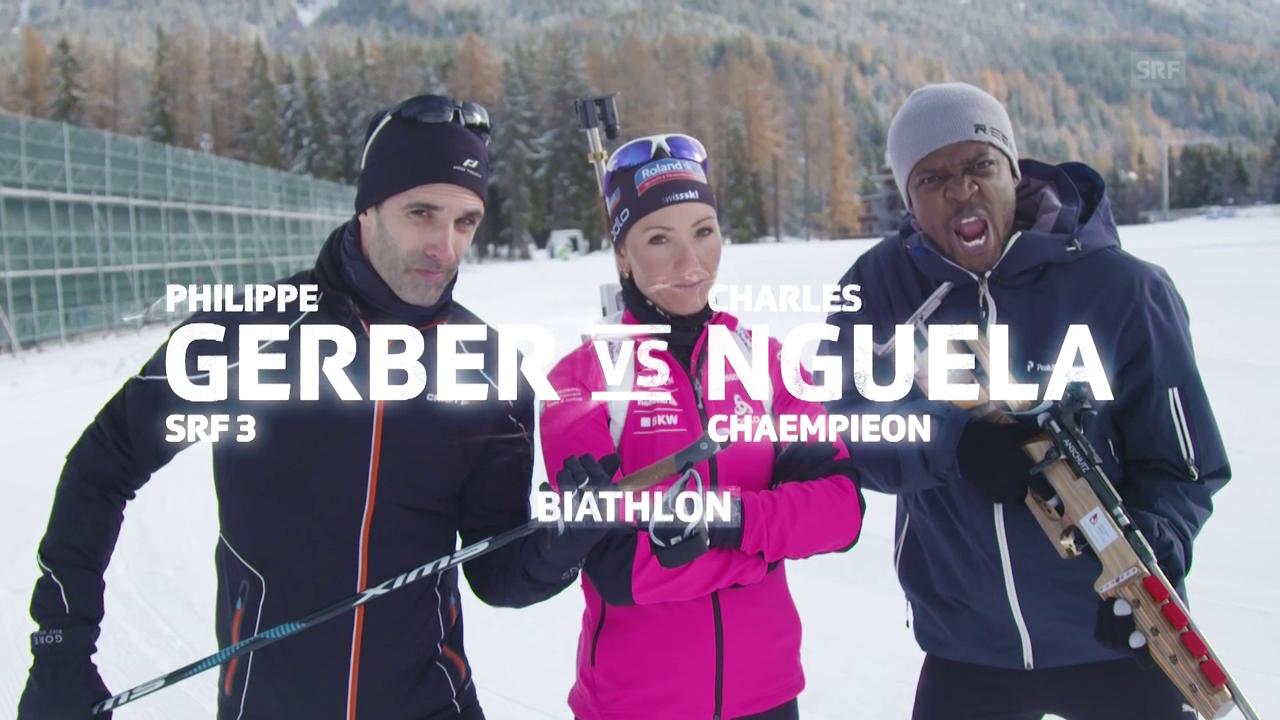 Gerber vs. Nguela im Biathlon