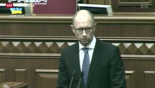 Video «Ukrainische Regierung wirft das Handtuch» abspielen