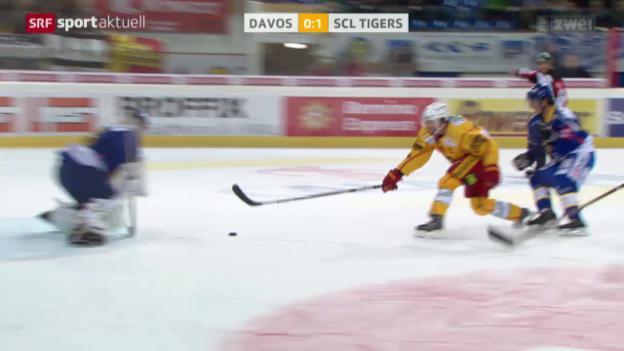Video «Eishockey: Davos - SCL Tigers» abspielen