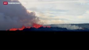 Video «Vulkan in Island rumort weiter » abspielen