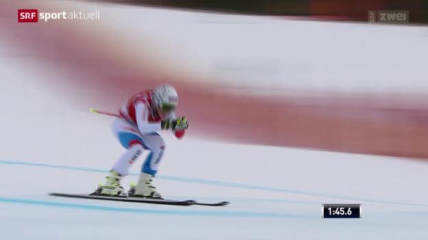Video «Ski alpin: Abfahrt Frauen Lake Louise» abspielen