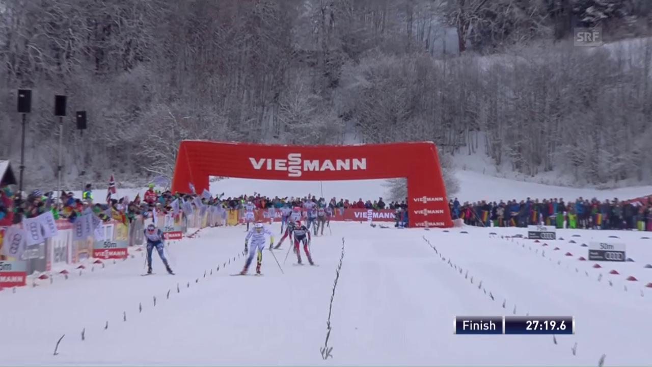 Skiathlon der Frauen: Nilsson siegt vor Diggins