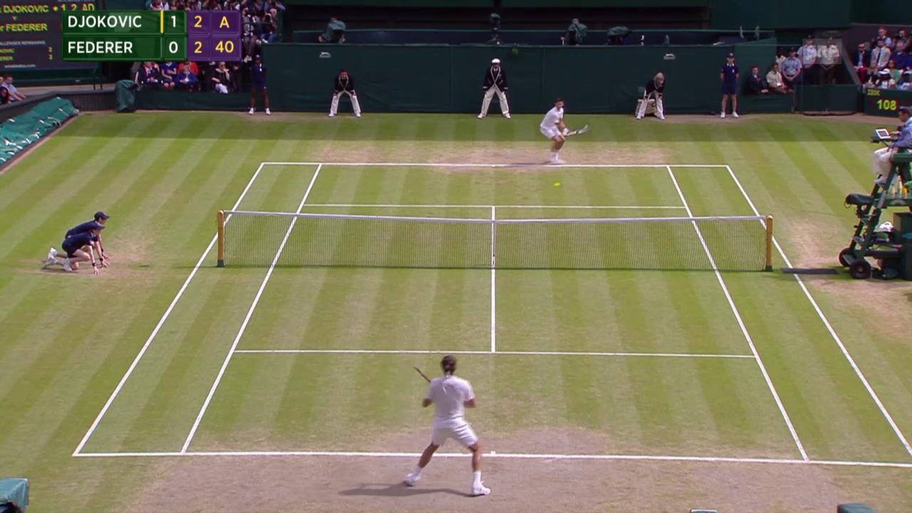 Tennis: Highlights Wimbledon-Final Federer - Djokovic