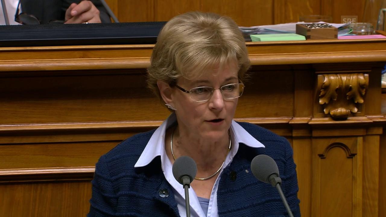 Verena Herzog spricht sich gegen den «Leistungsausbau» aus