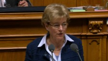 Video «Verena Herzog spricht sich gegen den «Leistungsausbau» aus» abspielen