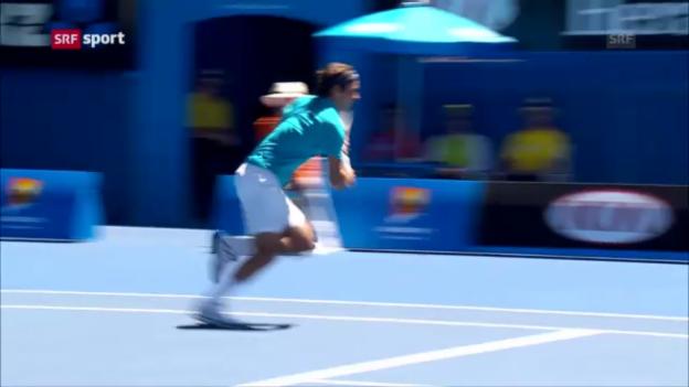 Video «Tennis. Australian Open 2013, 1. Runde, Federer-Paire («sportaktuell»)» abspielen