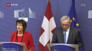Video «EU und die Schweiz: Es geht vorwärts» abspielen