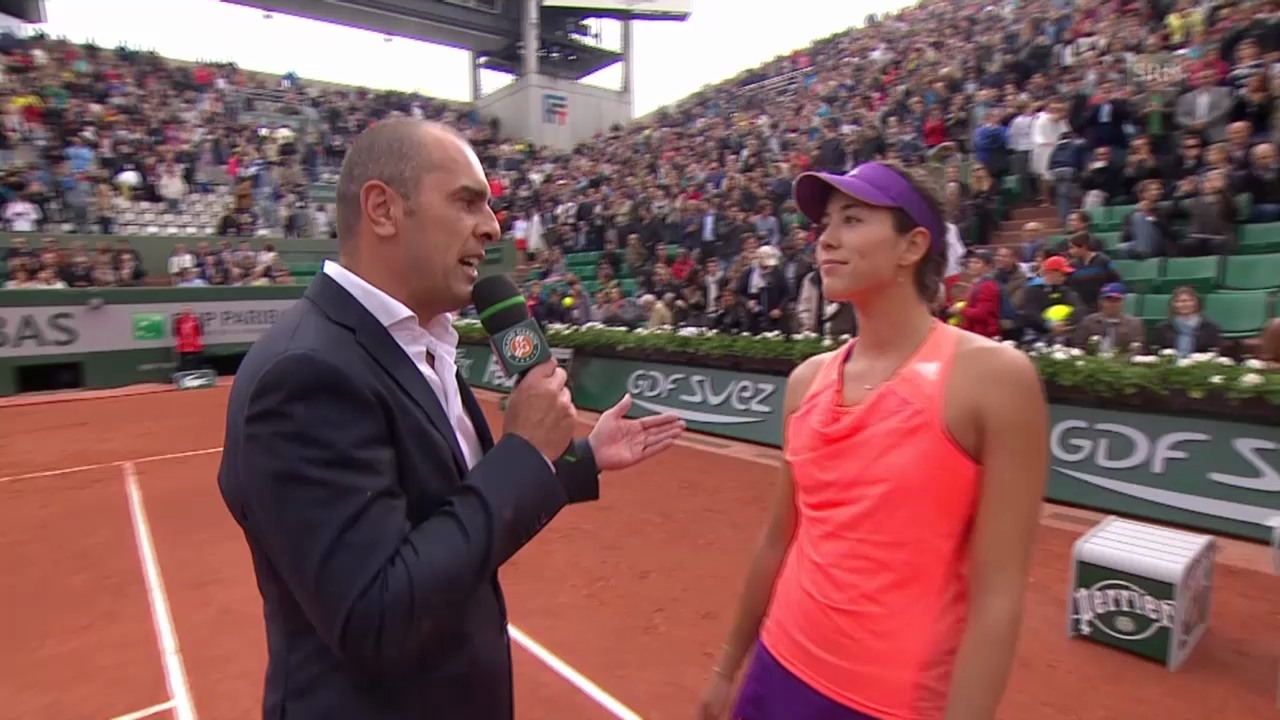 Tennis, French Open, Muguruza im Platzinterview