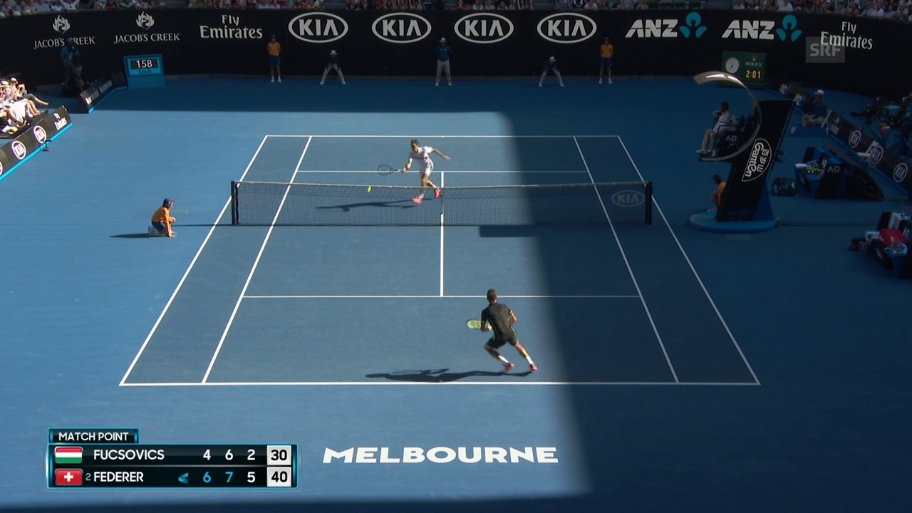 Live-Highlights Federer - Fucsovics