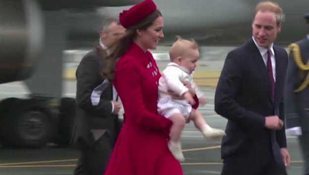 Video «William, Catherine und George: Ankunft in Neuseeland» abspielen