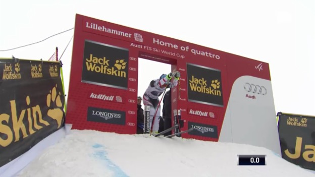 Video «Ski: Weltcup Kvitfjell, Fahrt von Streitberger» abspielen