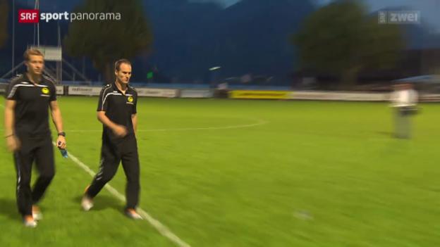 Video «Fussball: Cup-Sensation, Rückblick auf Buochs - YB» abspielen