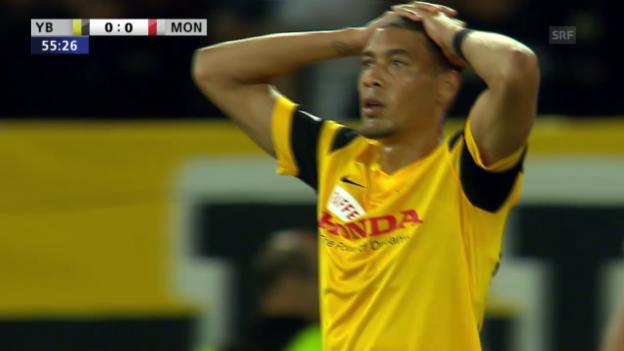 Video «Fussball: Champions League, YB-Monaco, 3 Topchance für YB» abspielen