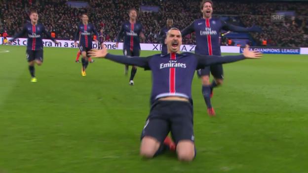 Video «Dank Ibrahimovic, Cavani und Trapp: PSG schlägt Chelsea im Achtelfinal-Hinspiel» abspielen