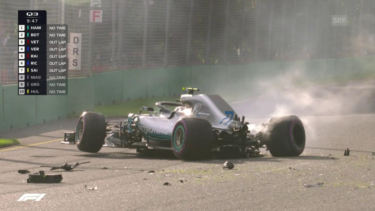 Bottas verliert im Mercedes die Kontrolle