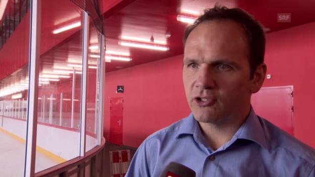 Video «Eishockey: Martin Steinegger über das neue Stadion» abspielen