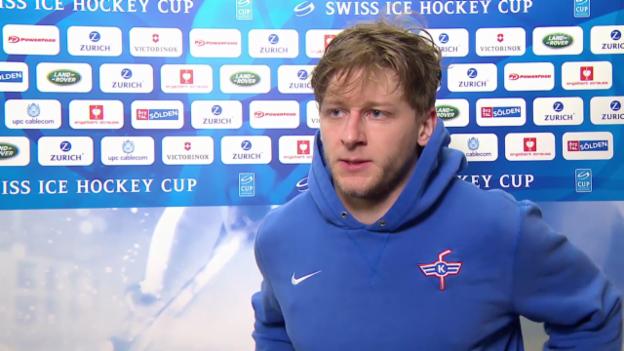 Video «Eishockey: Schweizer Cup, Halbfinal, Genf - Kloten, Simon Bodenmann» abspielen