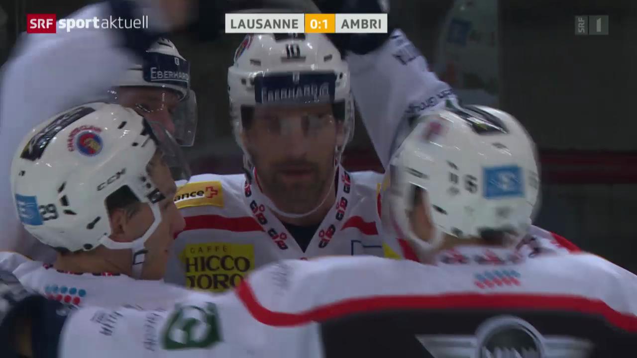 Eishockey: NLA, Lausanne - Ambri