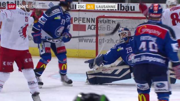 Video «Eishockey: NLA, ZSC Lions - Lausanne» abspielen