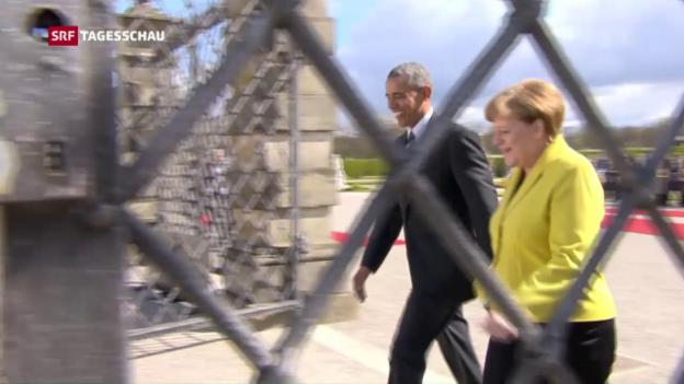 Video «Obama buhlt um die Gunst der Deutschen» abspielen